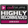 AVForums Highly Recommended Award - AVForums.com